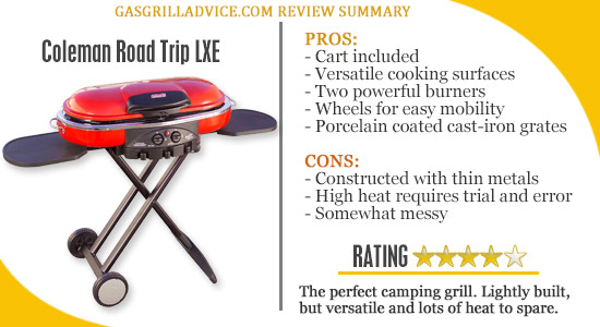 coleman road trip portable gas grill