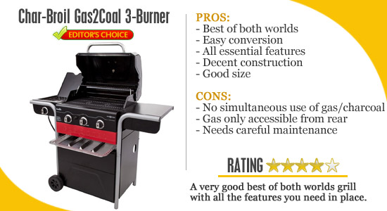 char-broil gas2coal combo grill
