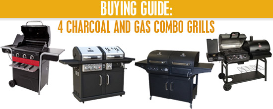 charcoal and gas grill combo