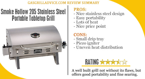 smoke hollow portable grill